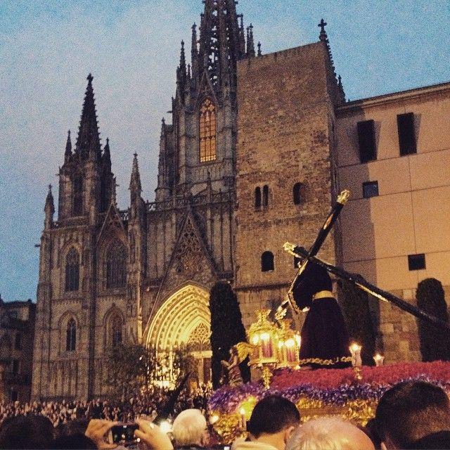 Good Friday in Barcelona. Celebrating Easter in Spain.
