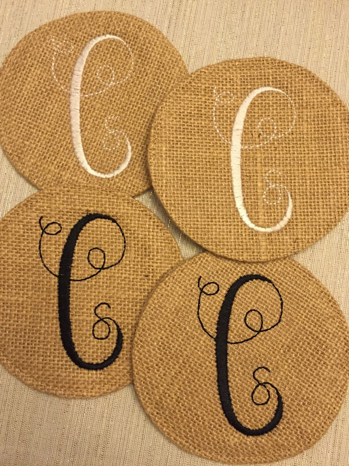 A personal favorite from my Etsy shop https://www.etsy.com/listing/261692820/monogrammed-round-natural-jute-burlap