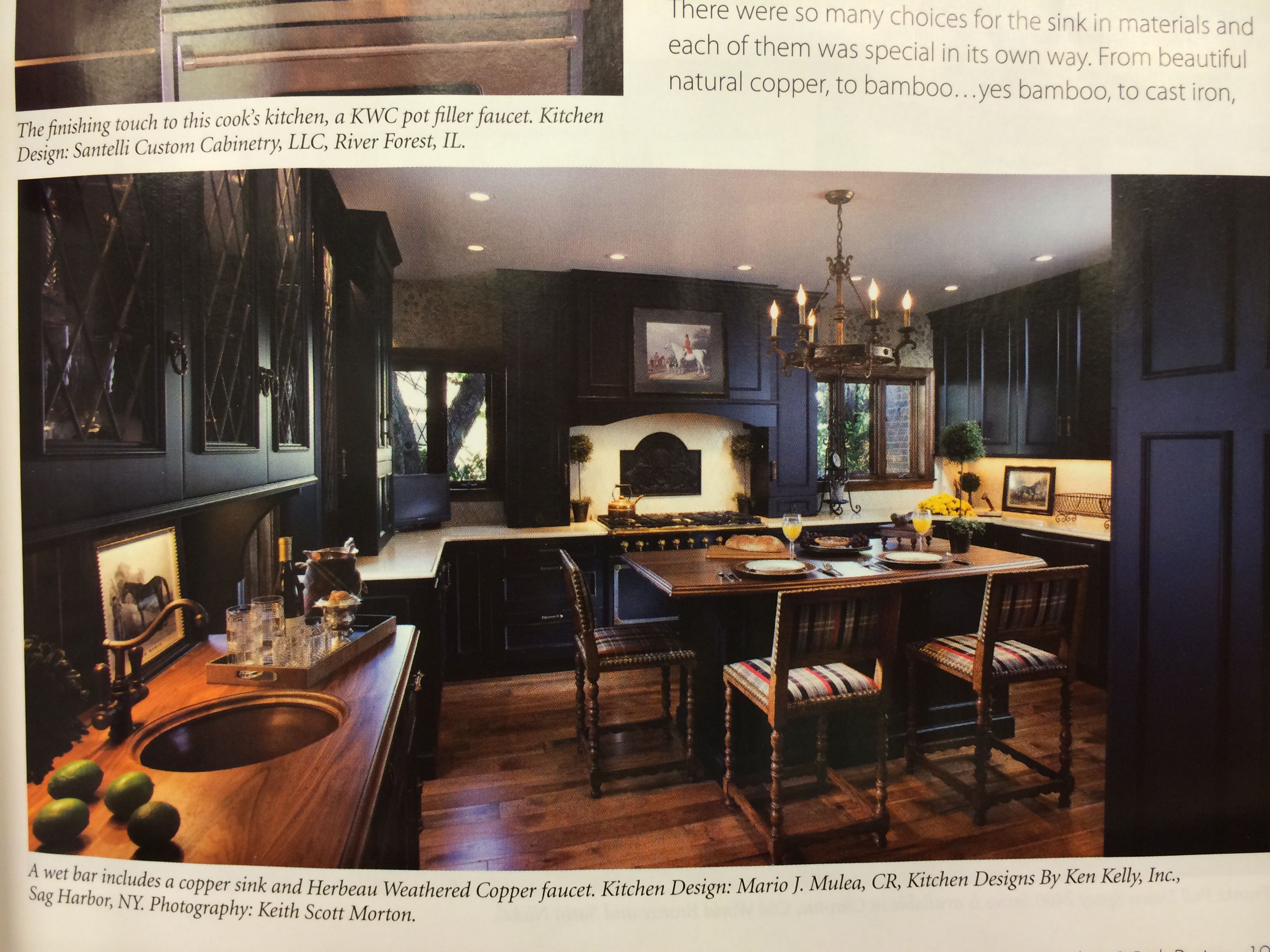 Equestrian style kitchen. Cozy like an old-school pub. Traditional ...