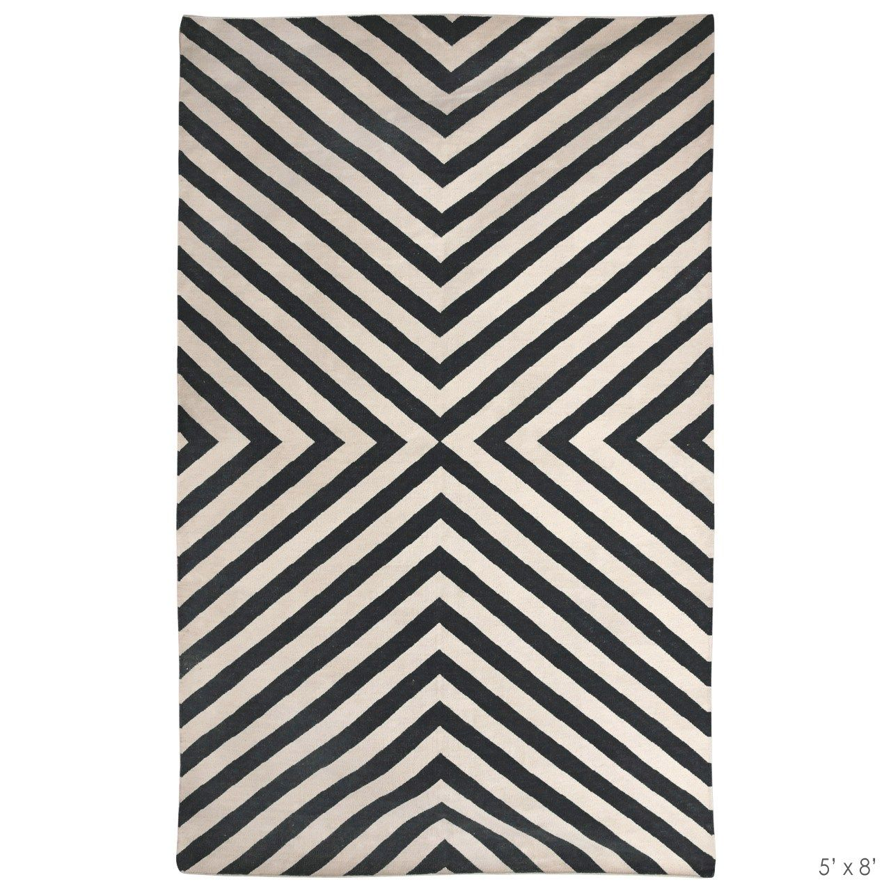 Jonathan Adler Bridget Black White Rug And Bling