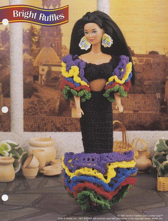 Bright Ruffles Annies Attic Fashion Doll Crochet Pattern Club