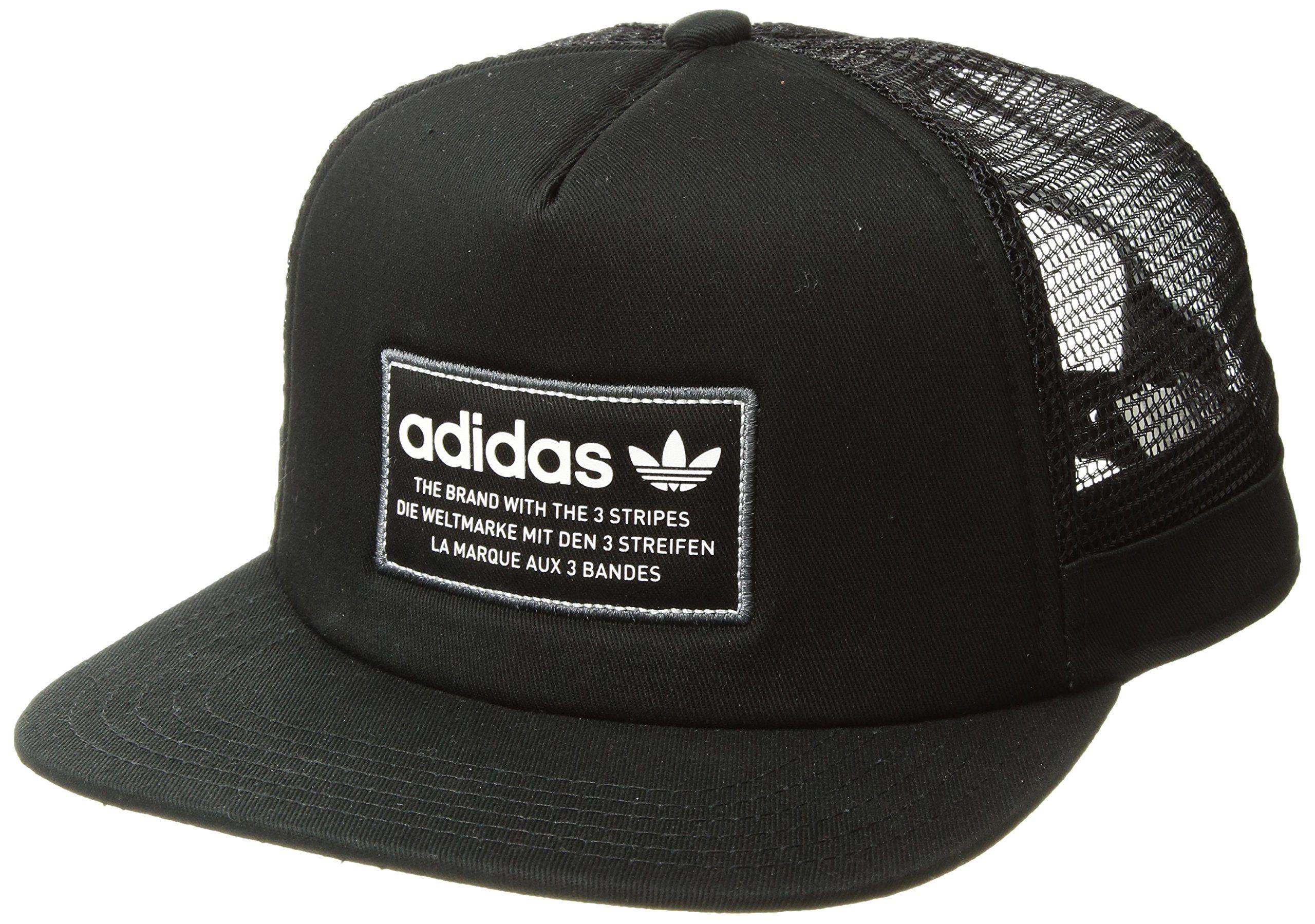 adidas Mens Originals Patch Trucker Structured Cap Black