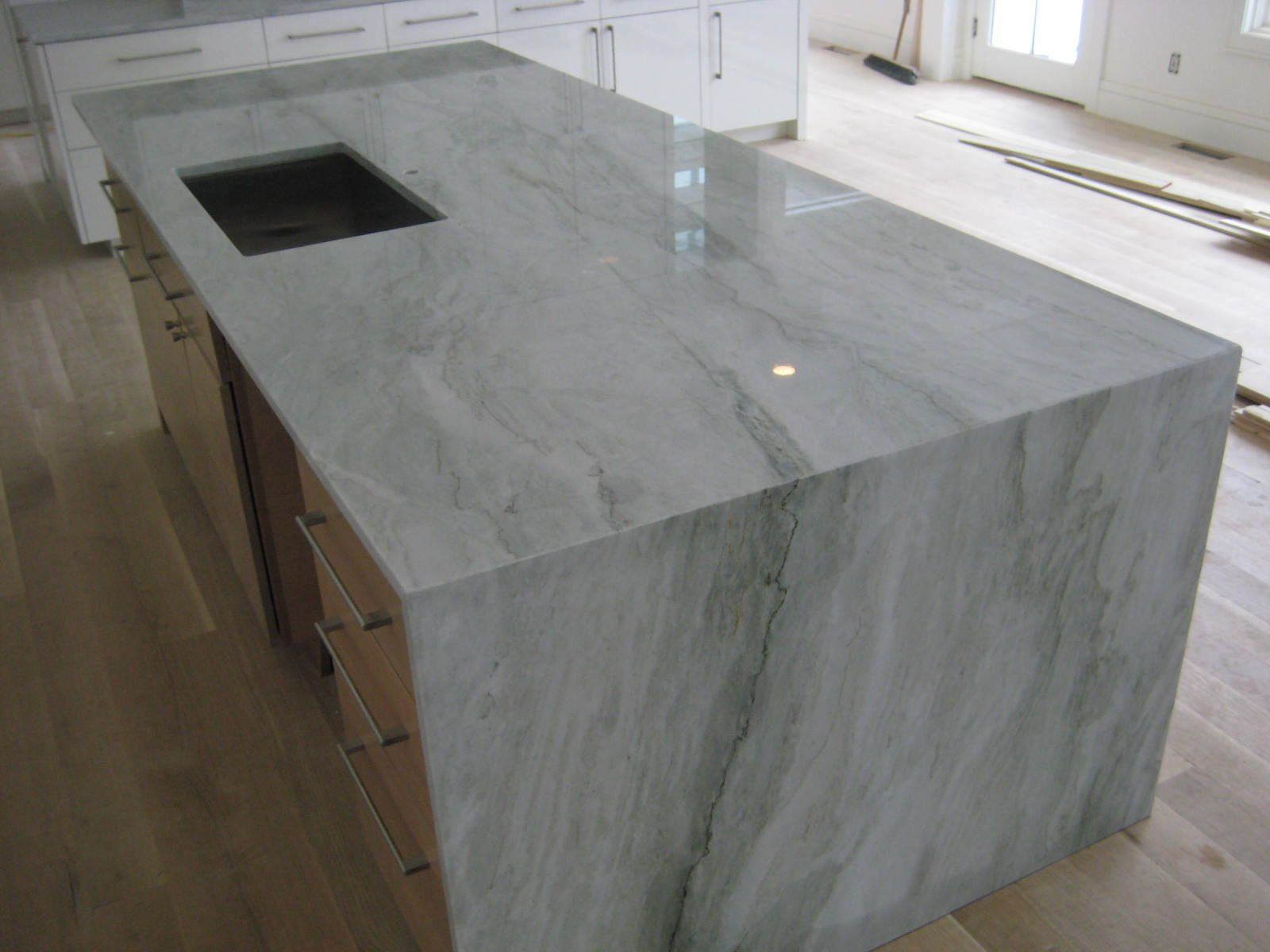 Captivating Sea Pearl Quartzite   Very Pale Grey W/ Minor Green Tint, Lovely Color And  Veining