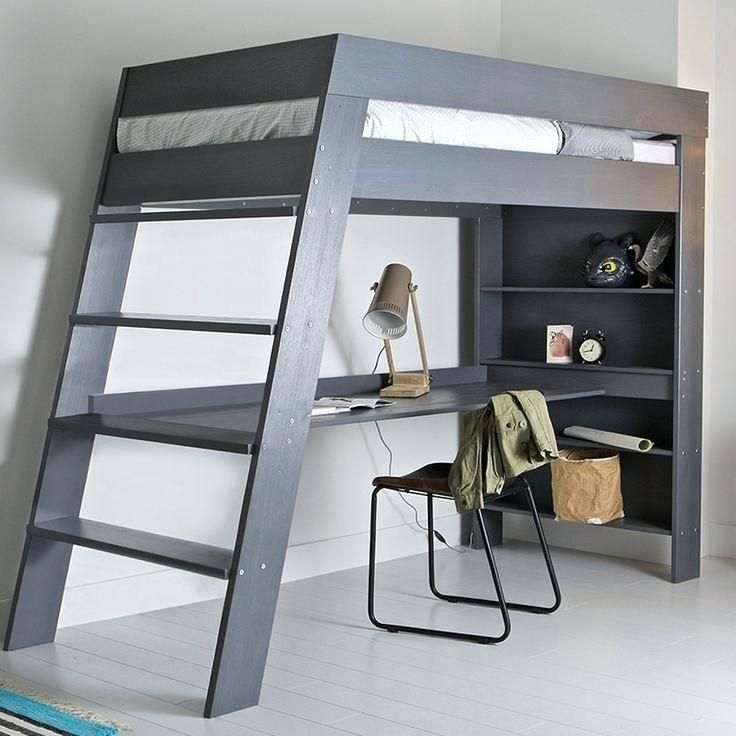Bunk Bed With Desk Plans Redoubtable, Loft Bed With Desk Plans
