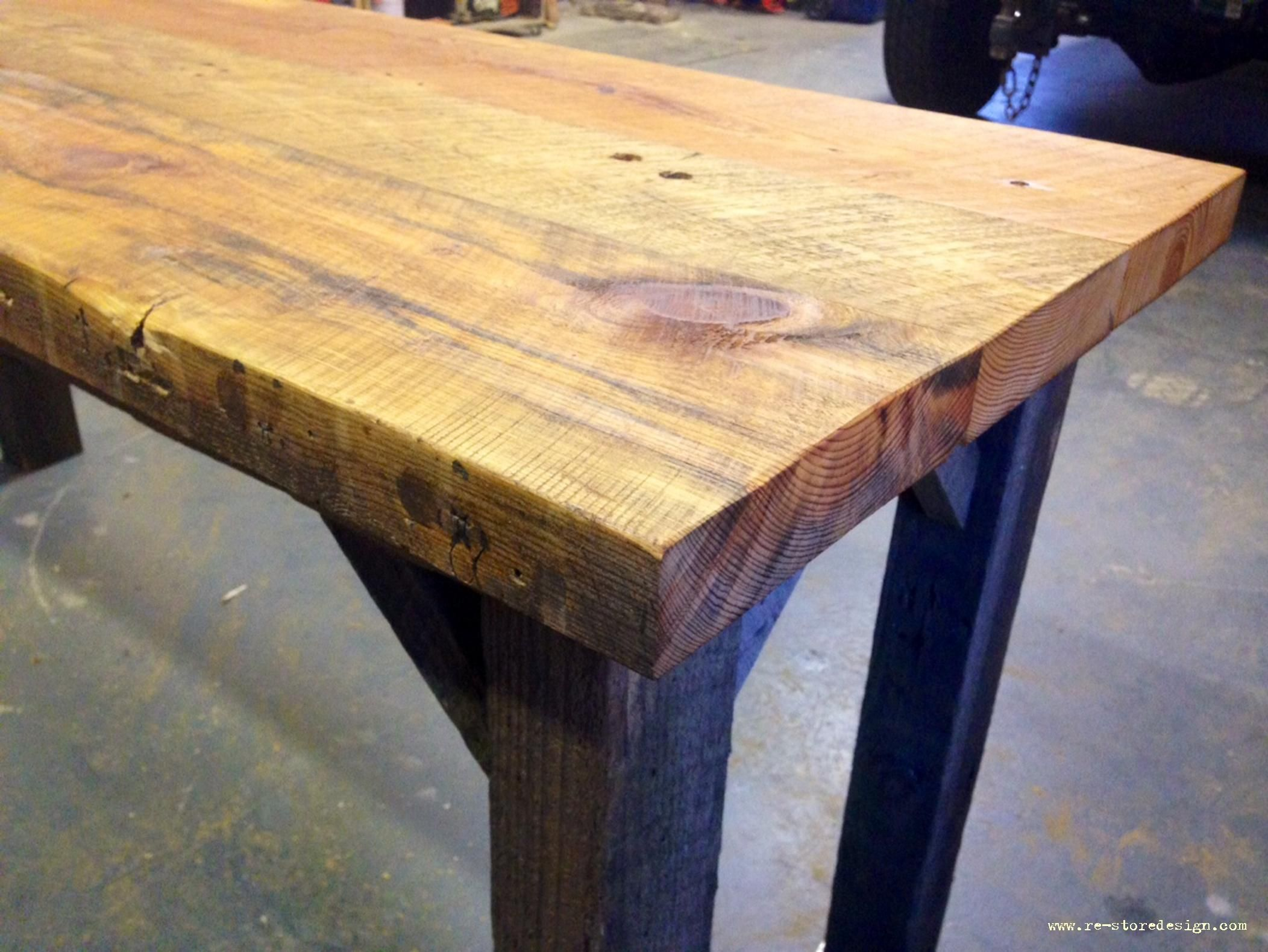 P A Href Http Www Ana White Com Sites Default Files 3154840706 1390493228 Jpg Download Original A P Reclaimed Wood Table Kitchen Bar Table Wood Table