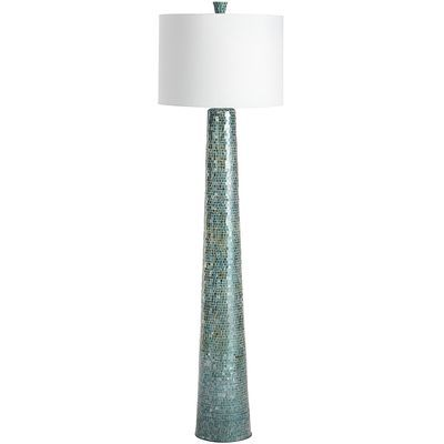 Oceans mosaic floor lamp contemporary floor lampsmodern floor lampsmodern lightingturquoise glassmosaic floorspier 1 importsglass