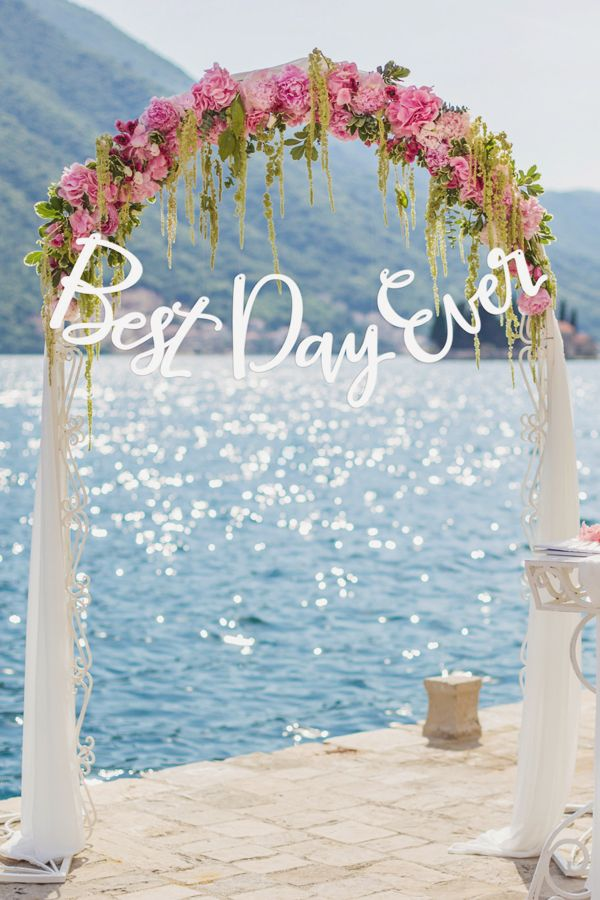 Best Day Ever Wedding Ceremony Sign