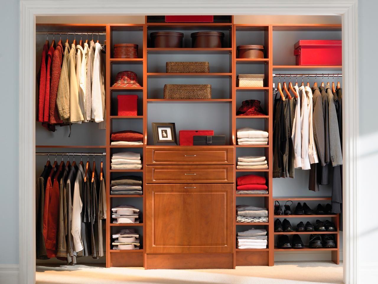 Master Closet in Warm Colors | Bedroom organization closet, Closet bedroom,  Closet designs
