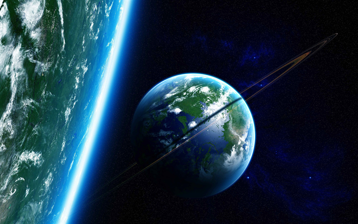 Scarica Sfondi Terra 4k Galaxy Sci Fi Stelle Satelliti Boh