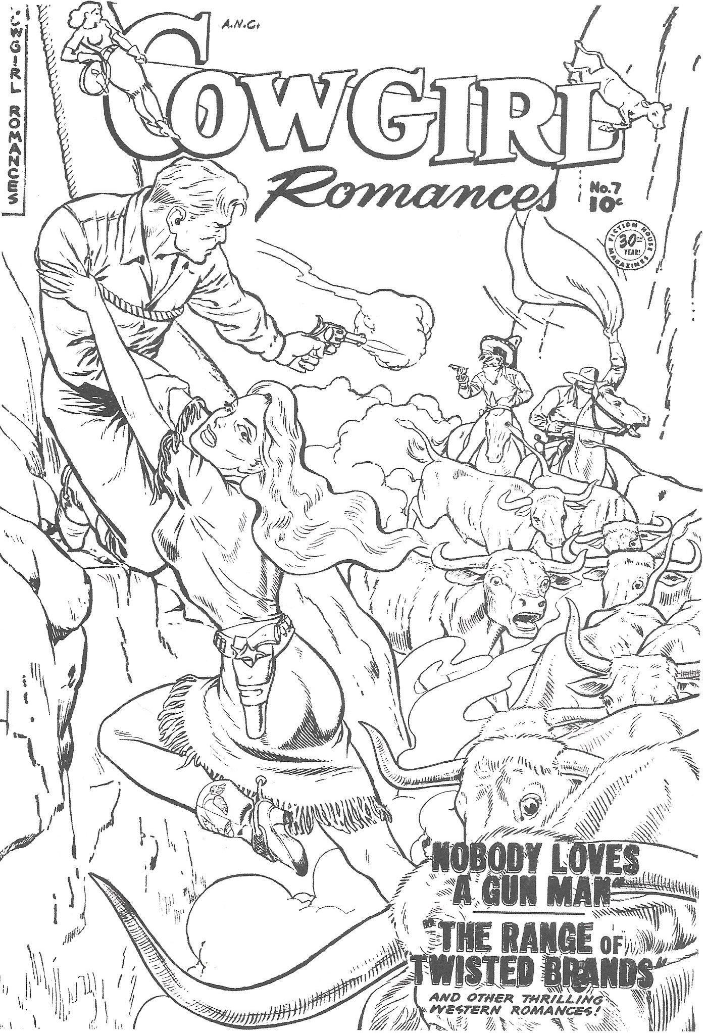 malvorlagen #coloringpage #ausmalen #cowgirl #cover #comic ...