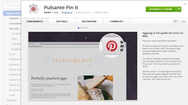 Pinterest E Il Nuovo Pulsante Pin It Per Chrome Social Media Google E Browser