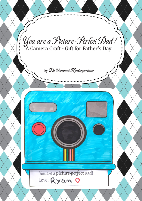 Father's Day Camera Craft - Gift for Kindergarten and ...