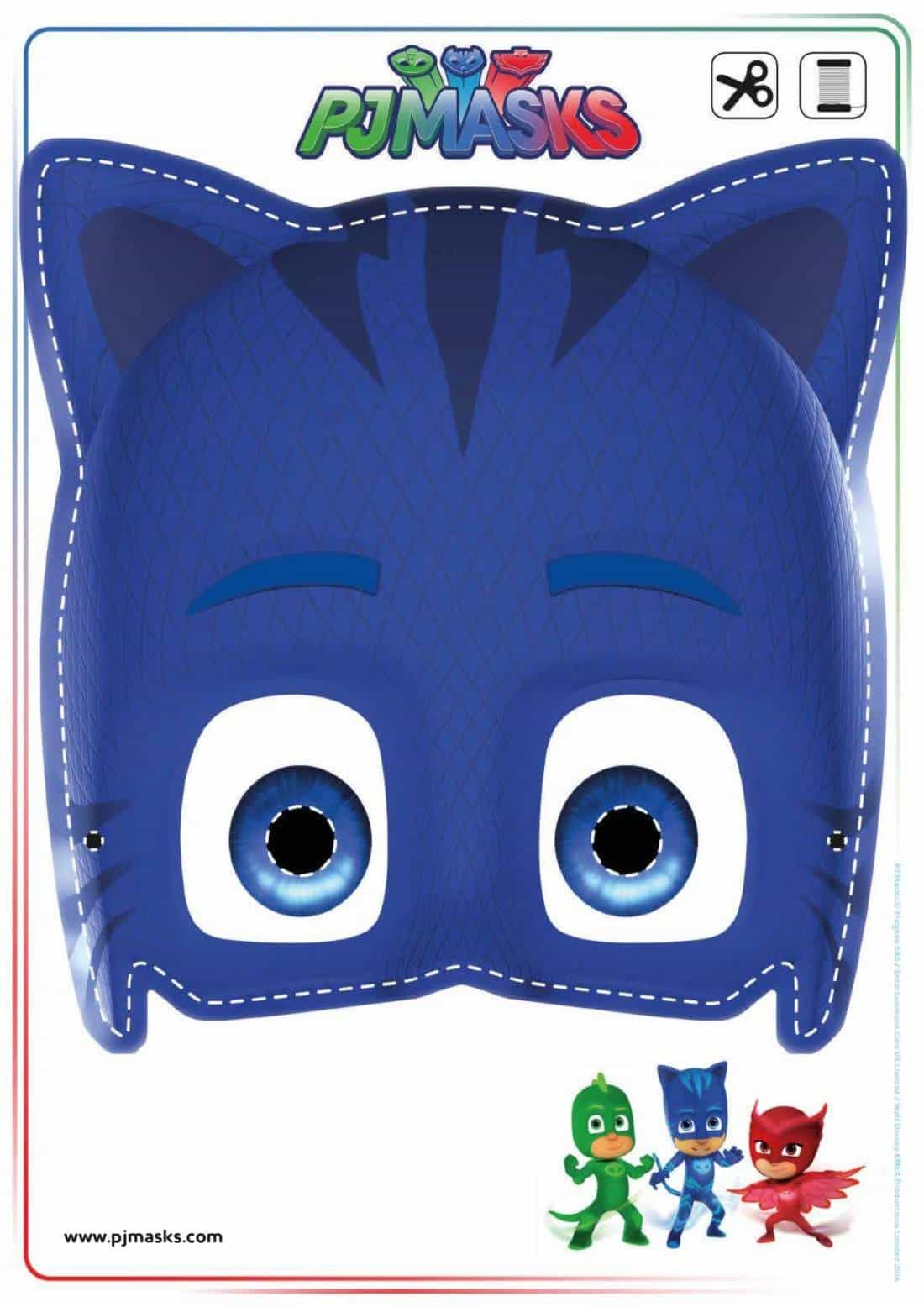Printables Pj Masks Owlette Gekko Catboy Masks Mask Party