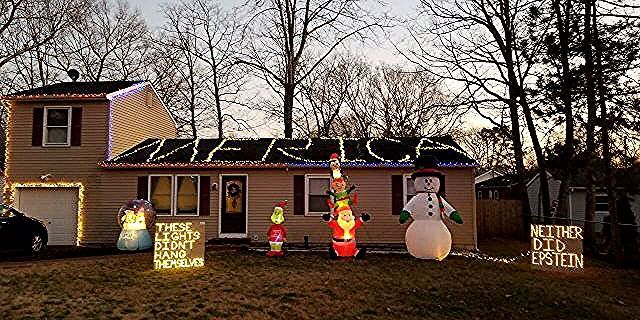 Nj Christmas Display Declare These Lights Didn T Hang Themselves Neither Did Epstein Fox News In 2020 Christmas Display Lights Display