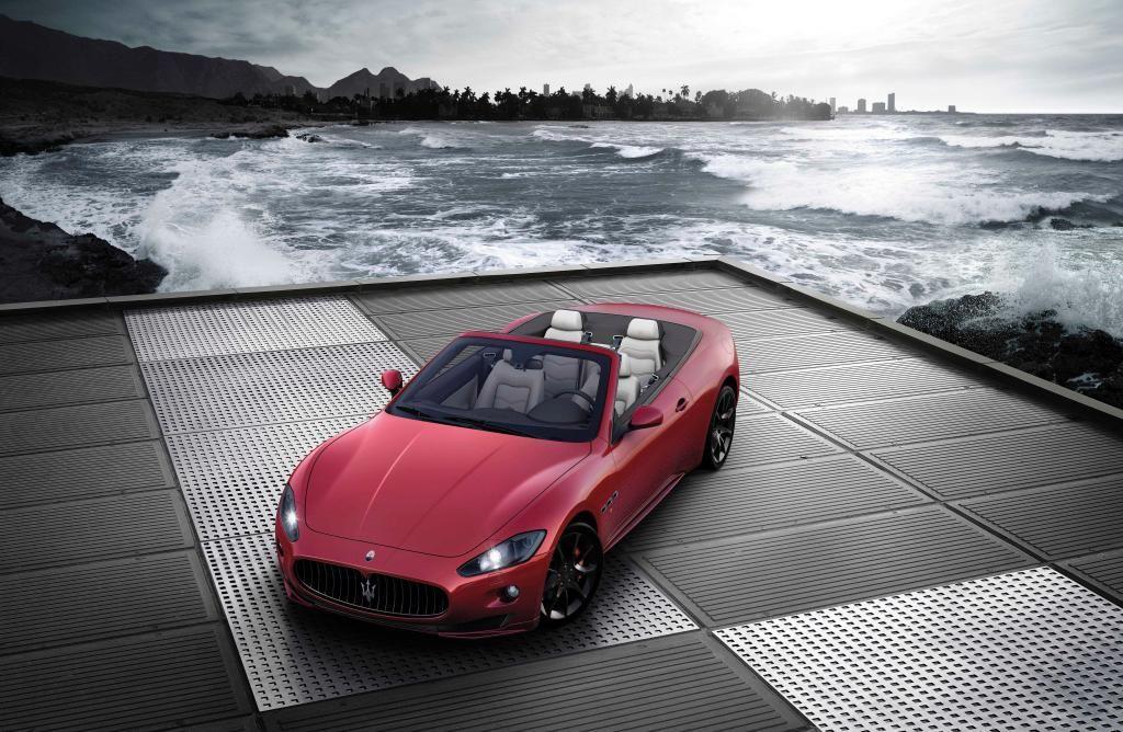 The GranCabrio Sport. What a stunning view! Maserati