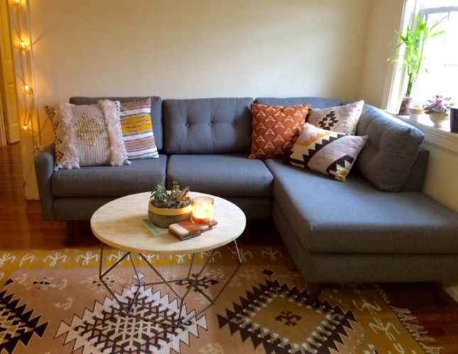 Hopson Apartment Sectional With Bumper Apartment Sectional African Living Rooms Living Room Designs