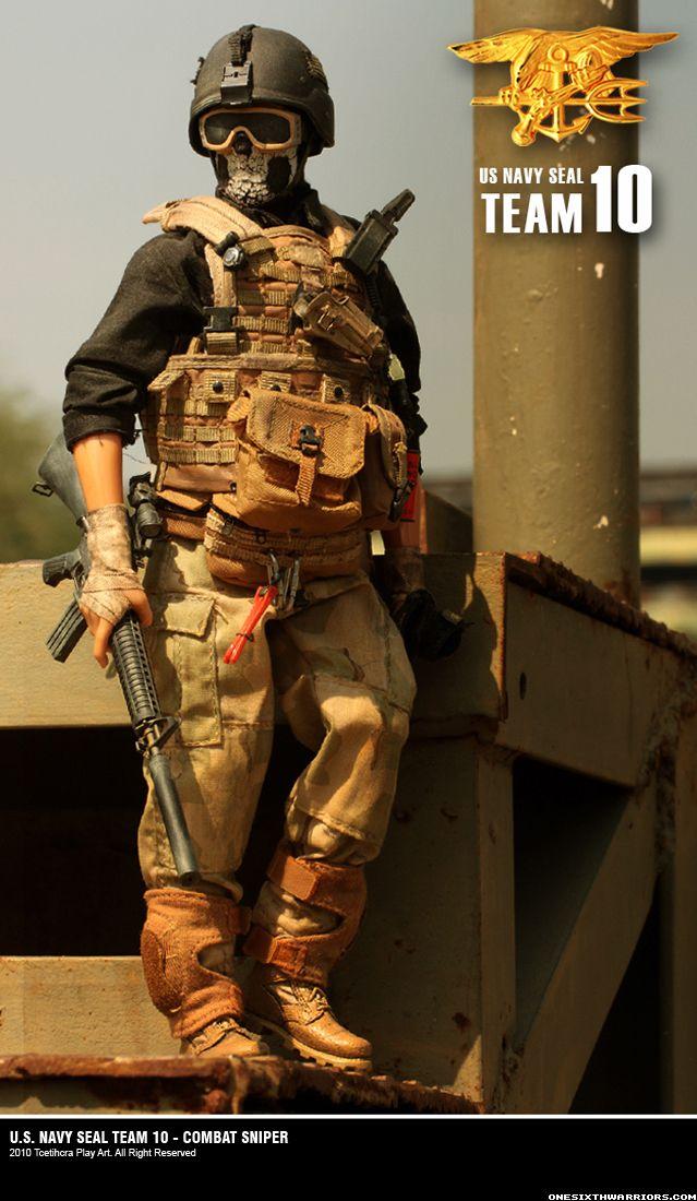 1 6 Combat Sniper In Navy Seal Team 10 Military Action Figures Military Figures Military Pictures