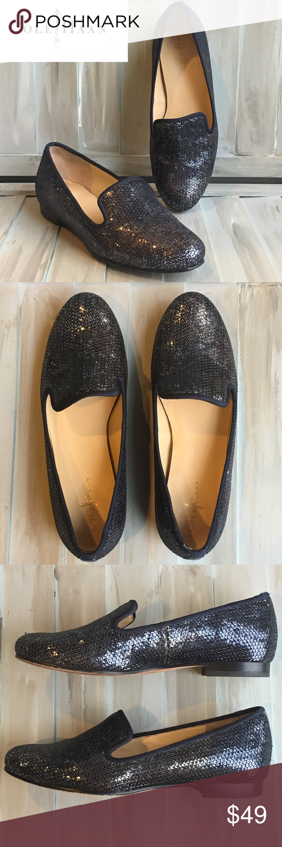 0f9f3a17372 COLE HAAN Sz 5B Sabrina sequin smoking slippers Beautiful COLE HAAN (and  Nike Air)
