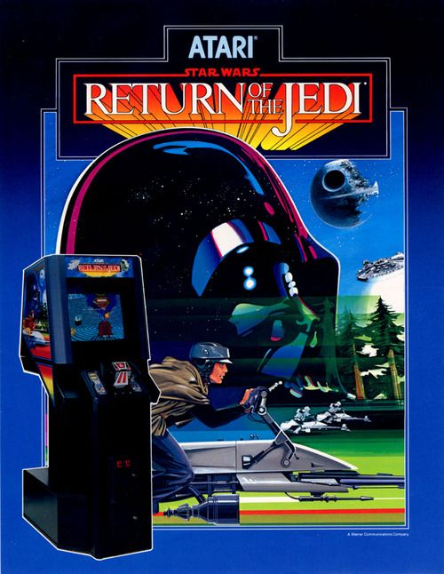 Arcade flyer for Star Wars. The Return of the Jedi (Atari, 1984).