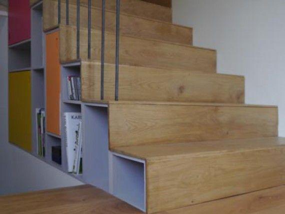 Escalier Double Face Avec Meuble De Rangement Integre Avec Images