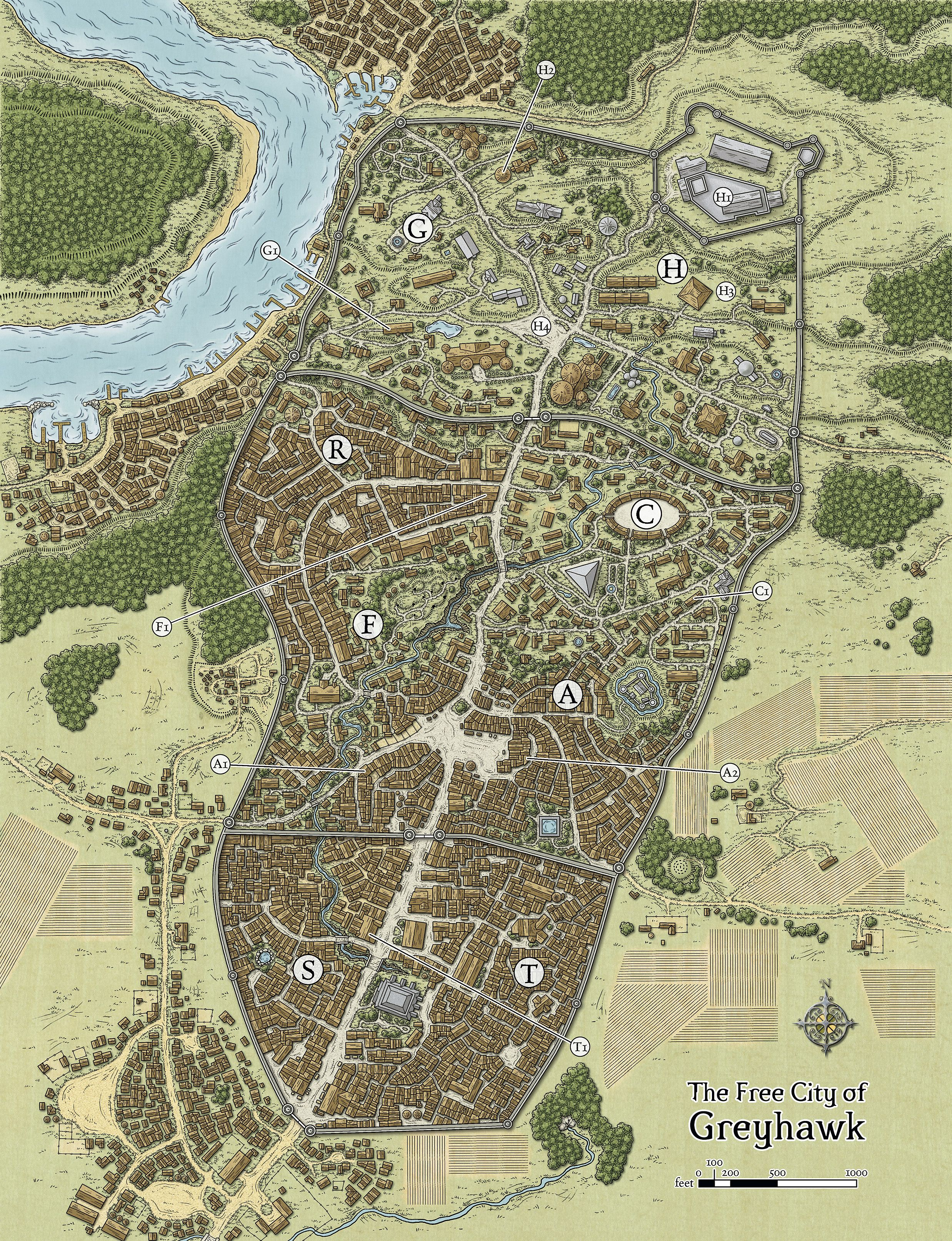 Castle greyhawk map tsrpaizo pinterest castles city and rpg free city of greyhawk gumiabroncs Image collections