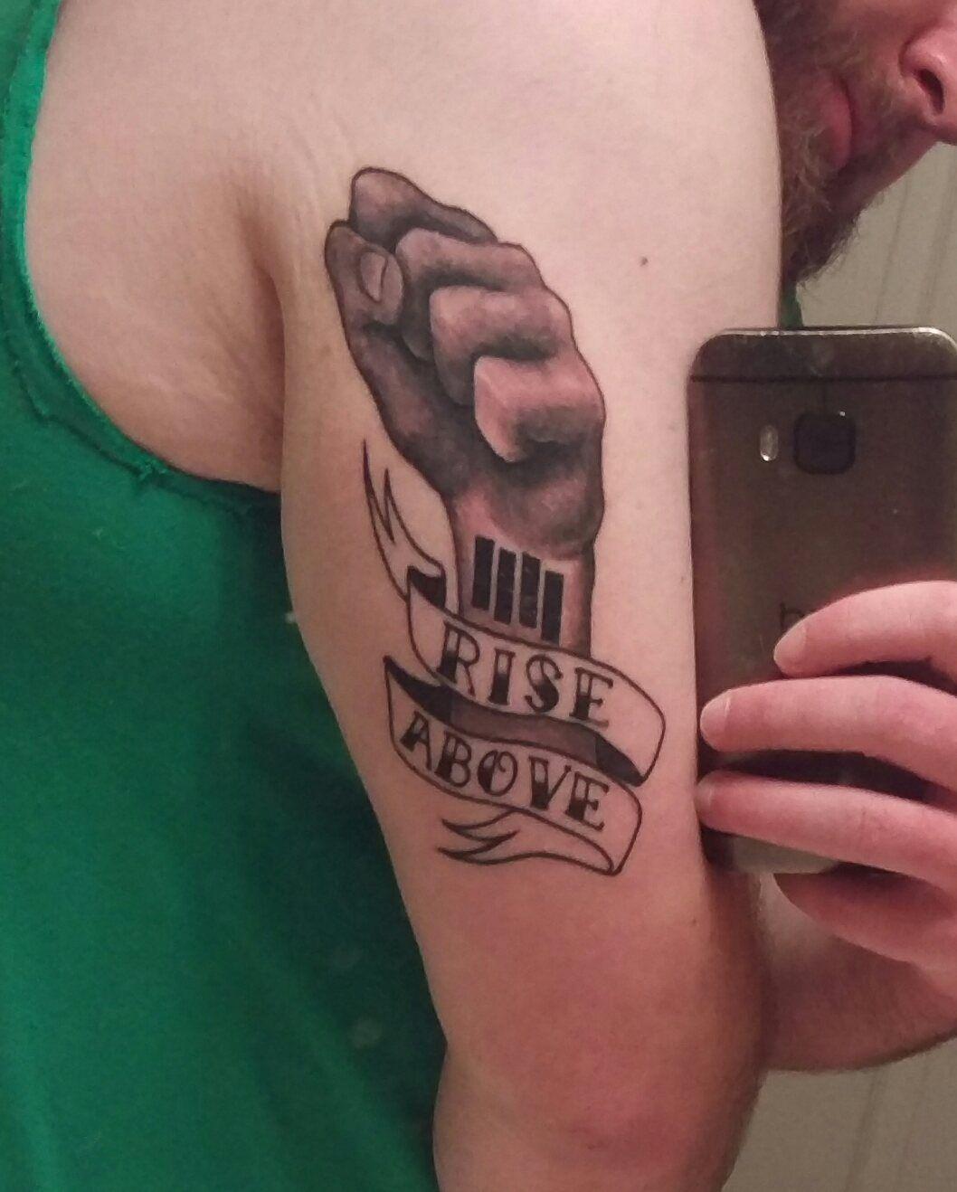 Black Flag Rise Above Tattoo By Eric Jazvac Of Wunderland Tattoo In Gainesville Fl Rise Above Tattoo Tattoos Skull Tattoo