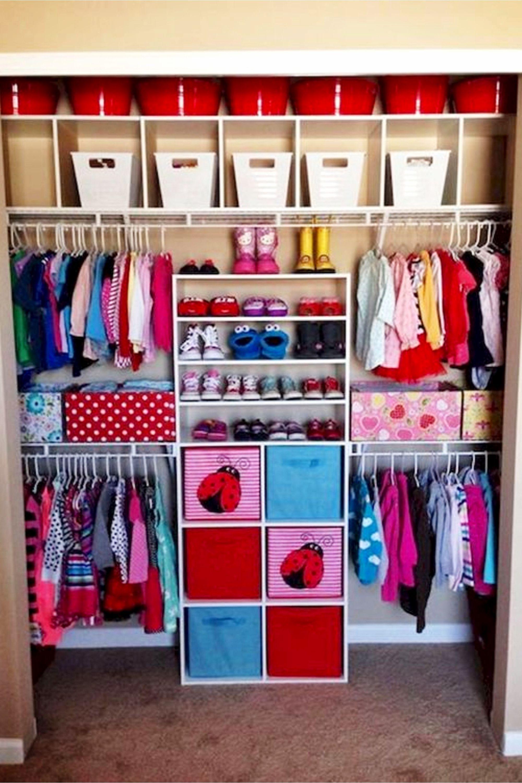 Baby Baby Organization Ideas Small Space Diy Closet Ideas Nursery Organiza In 2020 Toddler Closet Organization Baby Closet Organization Girls Closet Organization