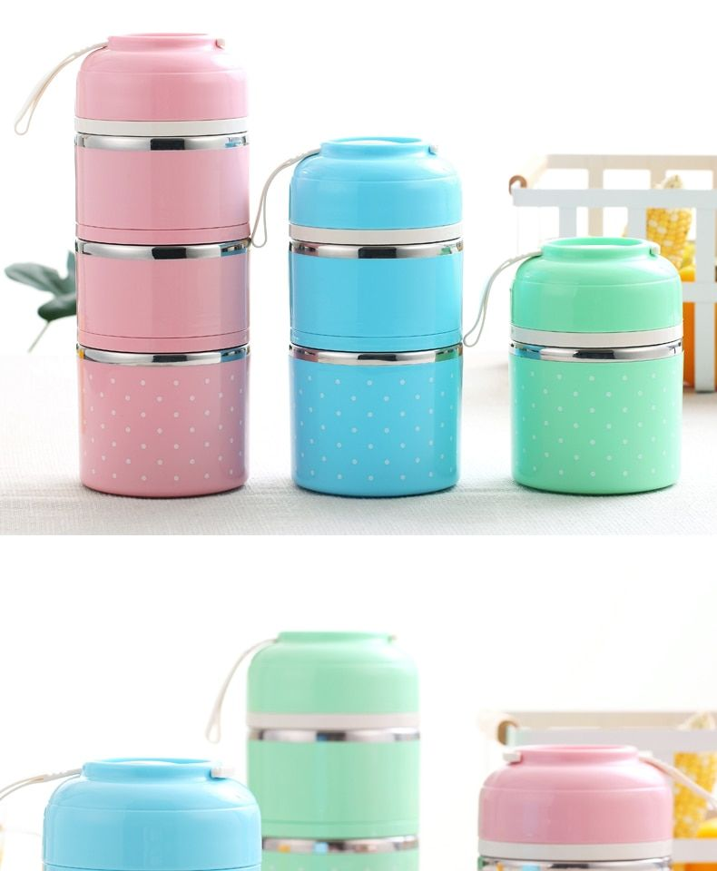 bf03746690 Thermal Lunch Box Leak-Proof Stainless Steel Container Box in 2019 ...