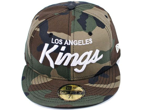 Los Angeles Kings Strict Camo 59fifty Fitted Cap By New Era X Nhl Fitted Caps New Era Los Angeles Kings
