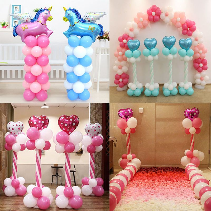 Balloon arch frame column stand builder kits for birthday