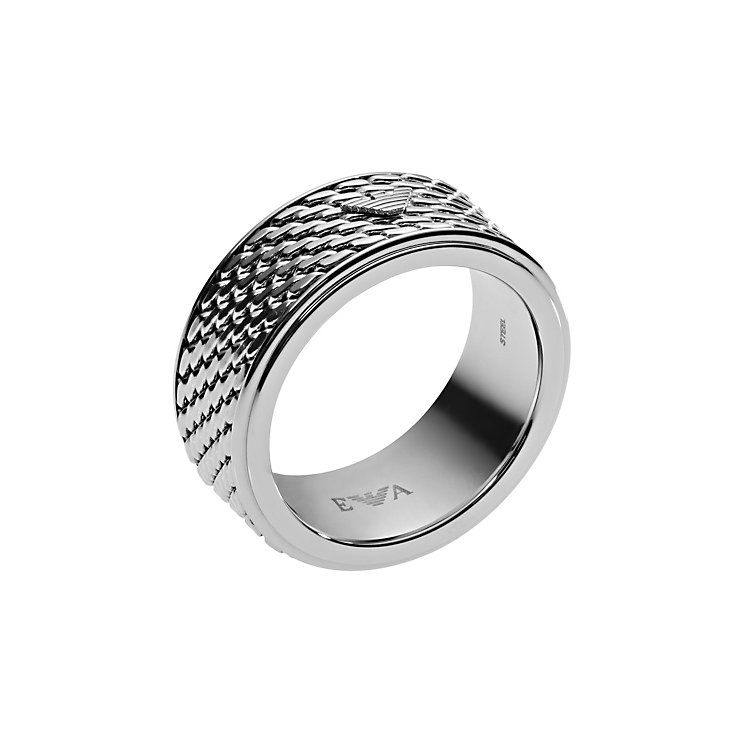 Emporio Armani Mens Stainless Steel Ring U Product number 4378393