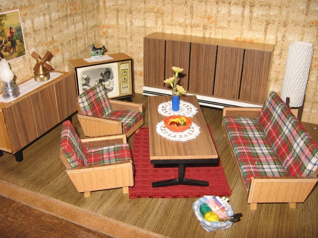 Altmann Wohnzimmermobel 50er Jahre Zubehor Puppenhaus Puppenstube