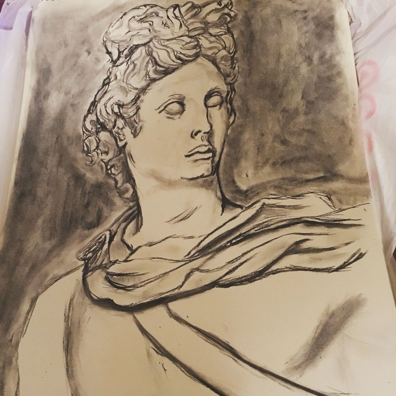 Greek God Apollo Charcoal Drawing Like And Pin Please