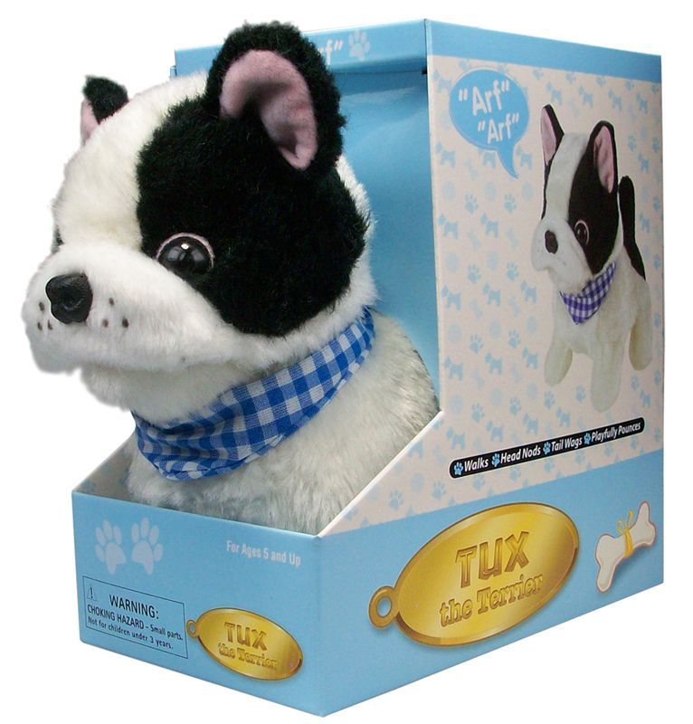 Boston Terrier Lifelike Stuffed Animal Toy Boston Terrier Pet