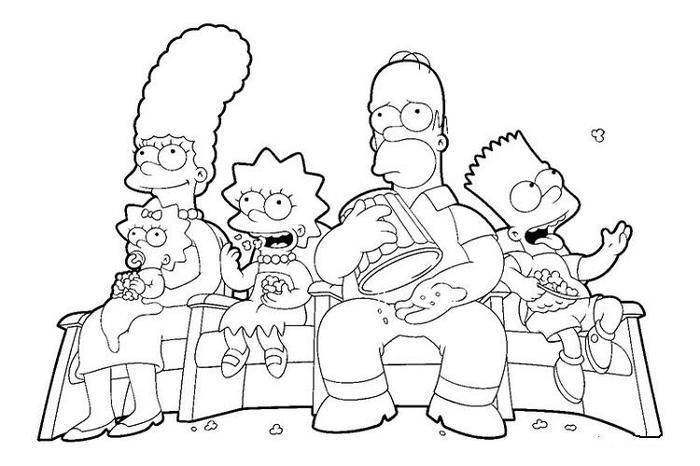 Simpson Coloring Pages Tv Show Cartoon Coloring Pages Coloring Pages Family Coloring Pages