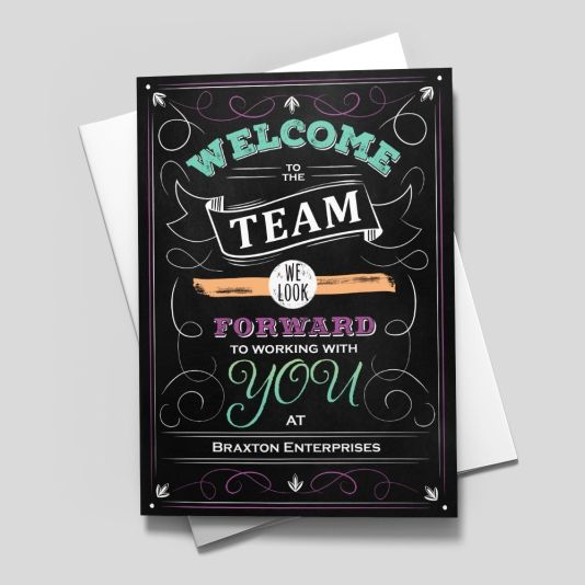 Welcome Confetti Card Welcome Card Welcome To The Team Welcome New Members