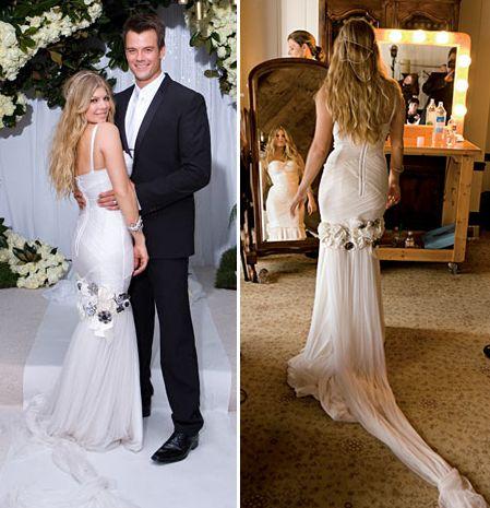 Fergie Wedding Dress Picture 3 Jpg 449 465 Pixels Celebrity