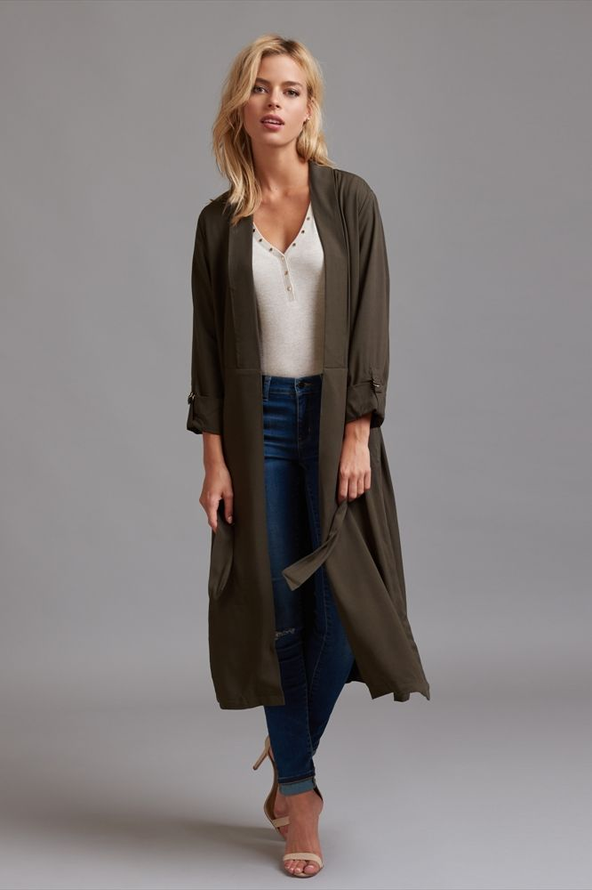 996a97675a2f This belted maxi blazer is perfect for work, a night out and everywhere  in-between.