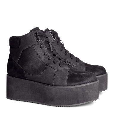 promo code 1dcff a333f Product Detail   H M US Svarta Skor, Plattform Sneakers, Skoskåp, Svart