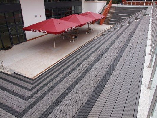 Best Boat Flooring Material Mexico How To Attach Deck Ledger Board Using Spacers Composite Plank Flooring Wpc Decking Deck Exterior Design