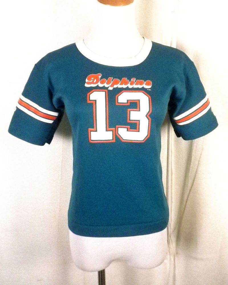 new styles 65c25 7128d vtg 80s Hutch NFL Miami Dolphins #13 Dan Marino Jersey ...