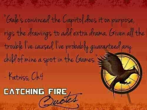 #BookQuotes - The Hunger Games Series: Catching Fire #2 by Suzanne Collins