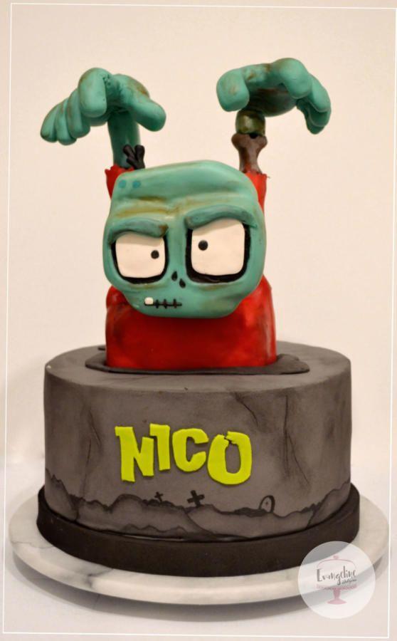 Torta de cumpleanos zombies