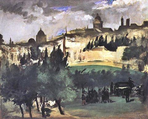 Édouard Manet - The Funeral, c. 1867