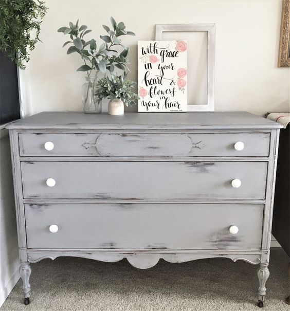 Distressed Gray Dresser Diy Bestdressers 2019