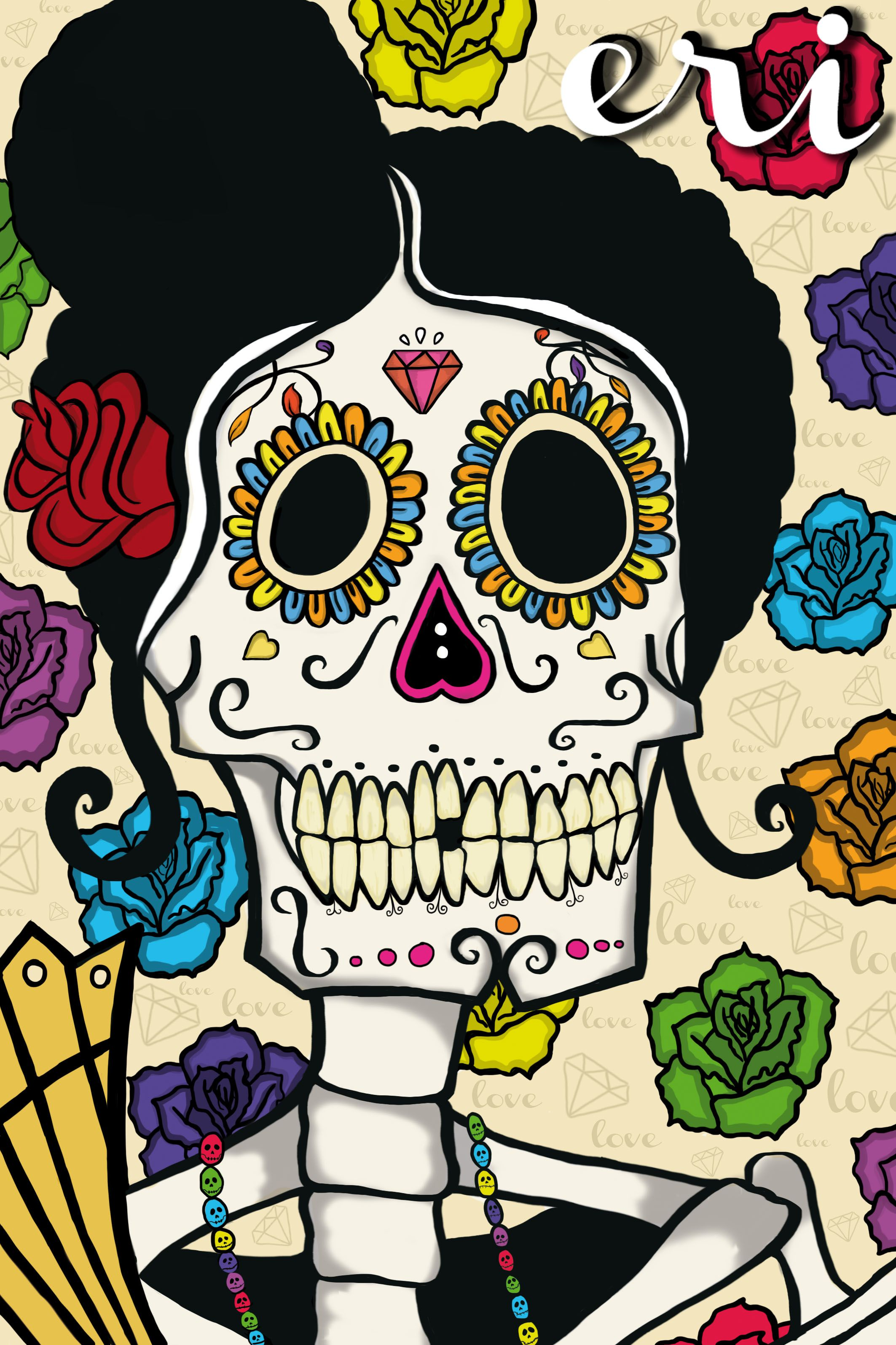 Mujer Calavera Día De Los Muertos Mexico Calaveras Mexicanas