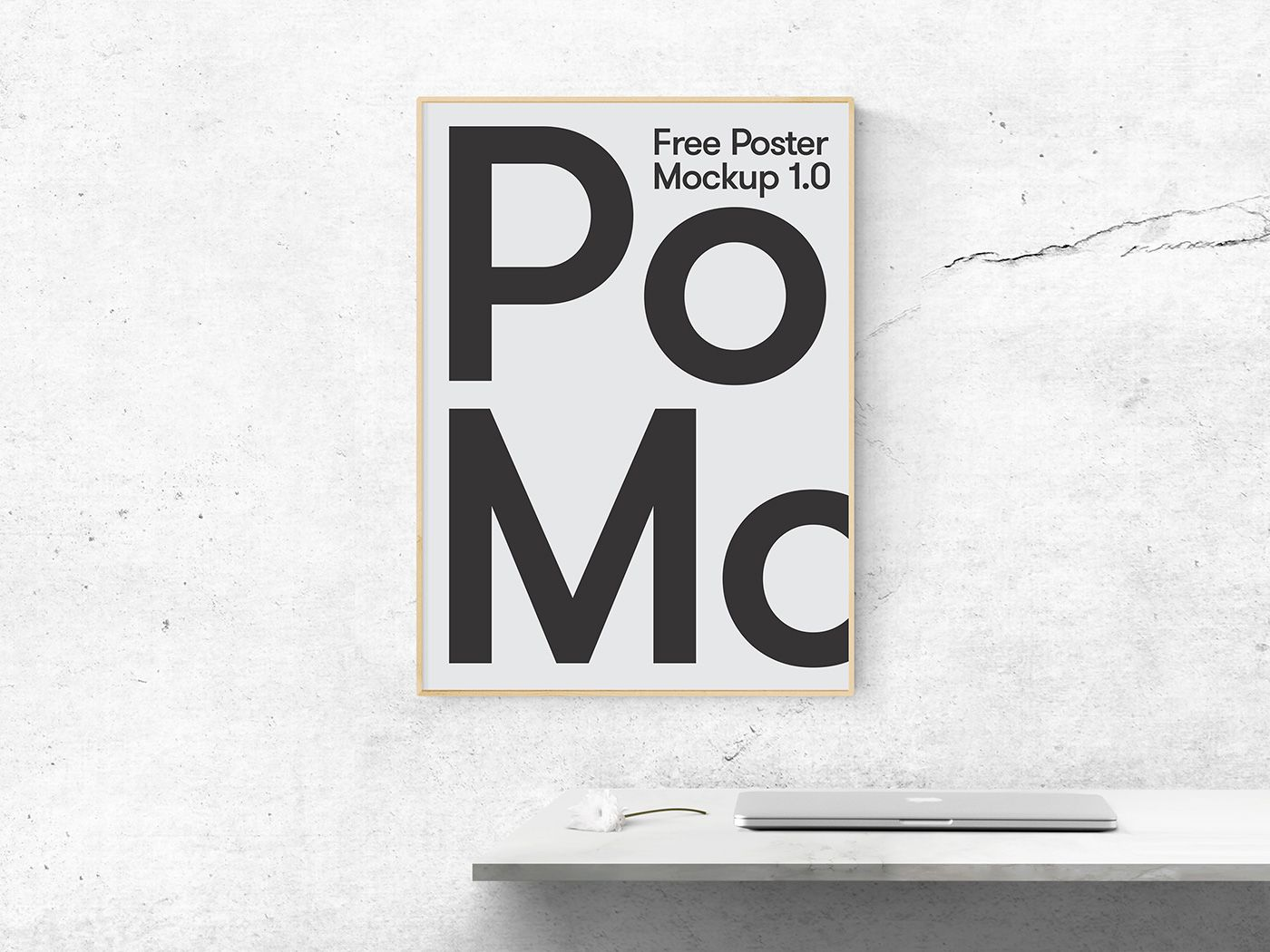 A Clean Psd Free Mock Up In Indoor Scene With A Poster Frame Poster Mockup Poster Mockup Psd Poster Mockup Free