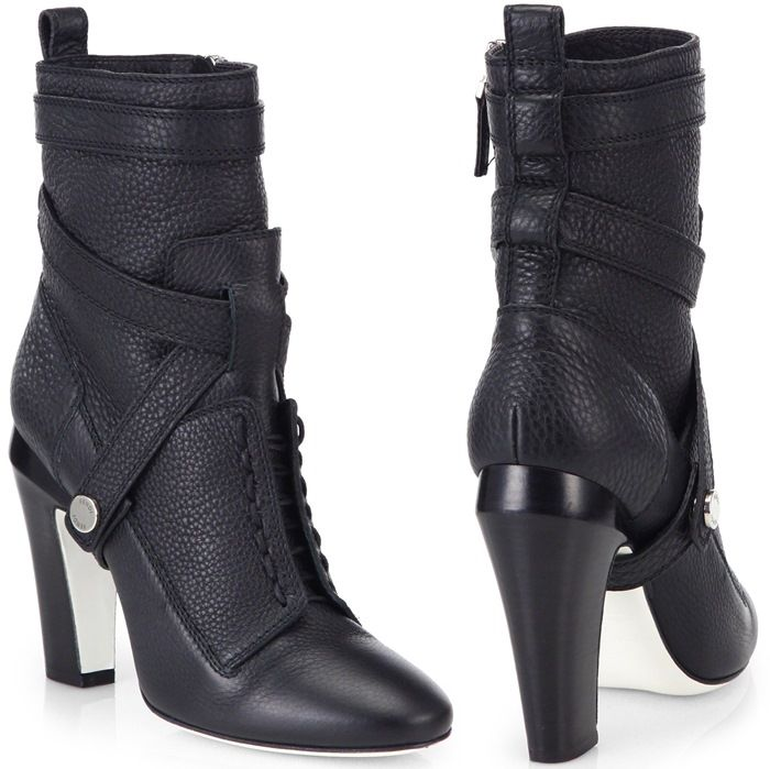 Diana 105Mm Leather Ankle Boots