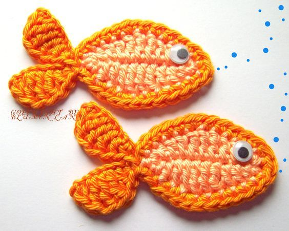 Resultado de imagen para pececitos a colores a crochet en pinterest ...