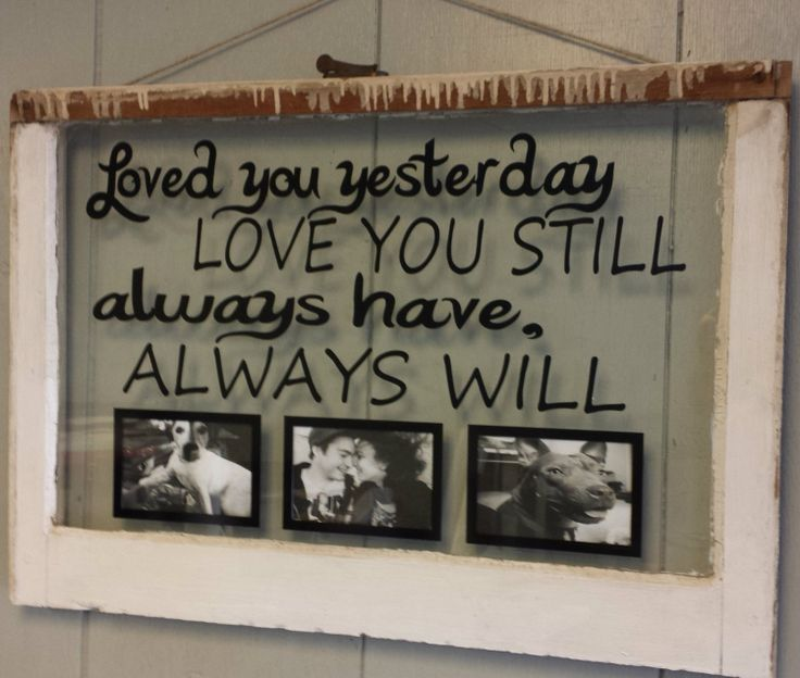 Vintage Window Single Pane Picture Frames By VaughnCustomCreation, $75.00.  LOVE Always. PERSONALIZED WINDOW Great Ideas
